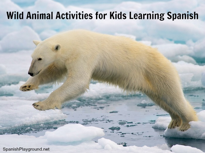 Activities about wild animals in Spanish for kids.
