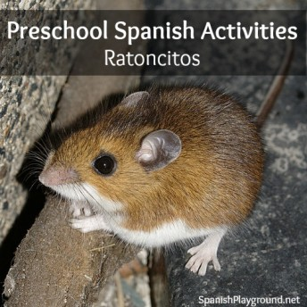 Preschool Spanish songs, fingerplays, games and books for learning about mice.