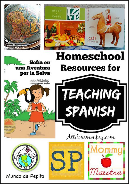 Top rescources for homeschooling in Spanish to teach children language.