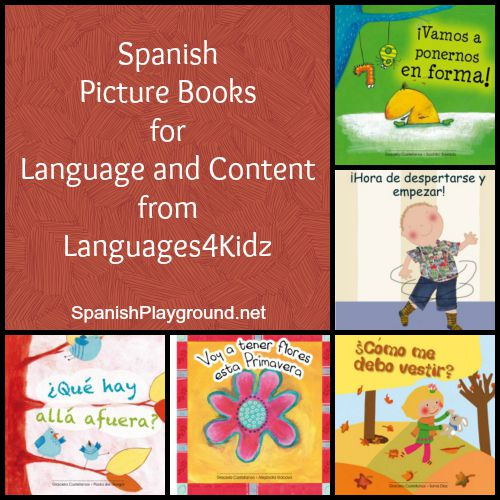 Spanish picture books teach children vocabulary and content.