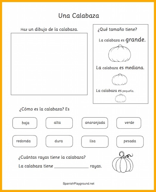 Pumpkin activities are part of a great set of Spanish Halloween activities.