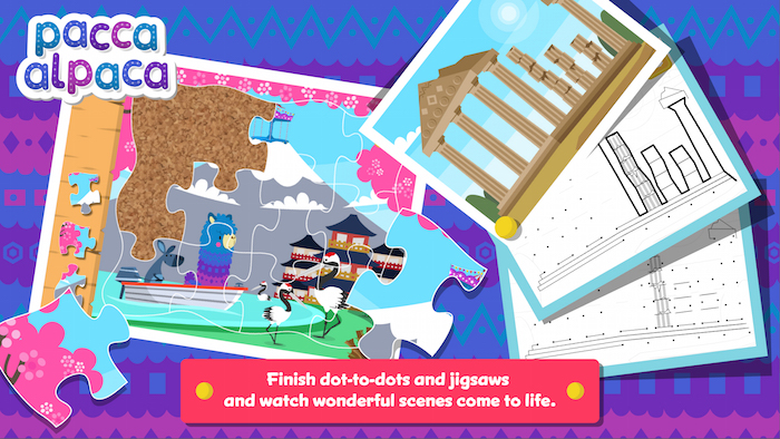 Pacca Alpaca is an educational app that teaches kids about global cultures.