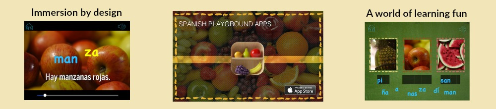 iPhone and iPad apps from Spanish Playground teach children Spanish with fun effective games.