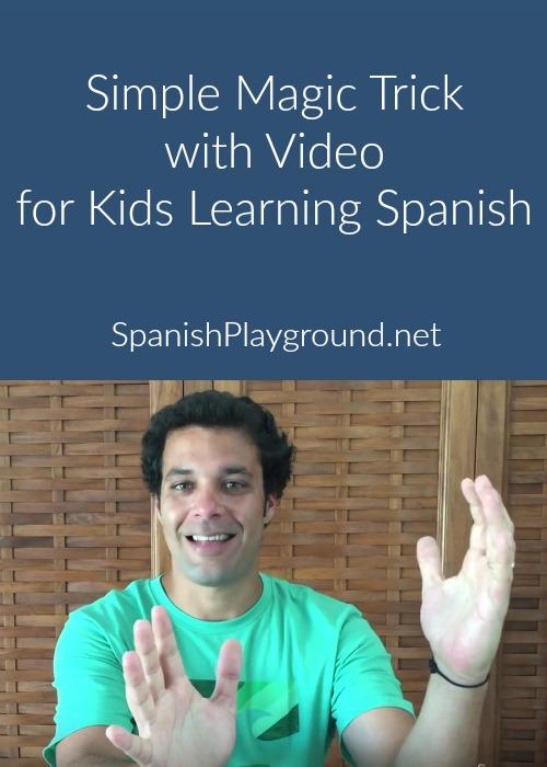 A simple magic trick to teach kids the verb estar.