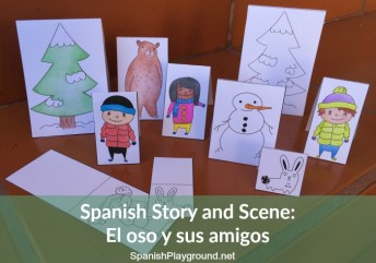 A printable Spanish story and scene to teach vocabulary and language in context.