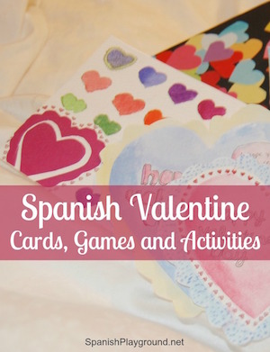 Spanish Valentine cards, songs, games and books for kids.