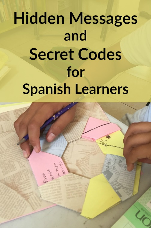 Secret messages and codes are fun language activities for kids learning Spanish