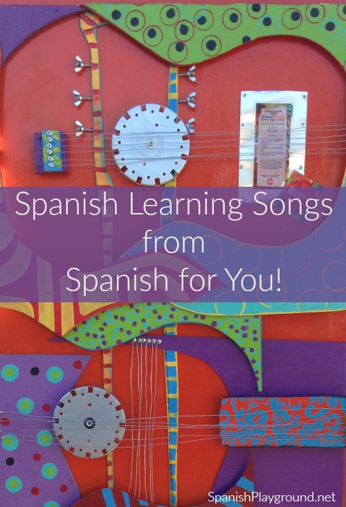 Spanish learning songs focus on important vocabulary and verb forms.