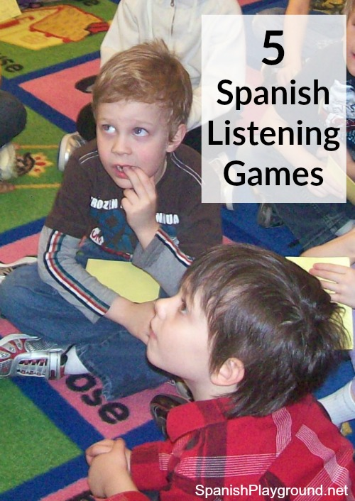 Spanish listening games help kids develop the ability to hear key words in context.