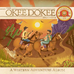 The new Okee Dokee Brothers album Saddle Up has the Spanish song Somos amigos.