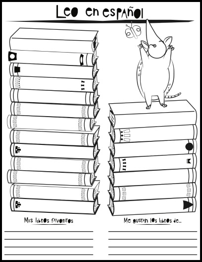 A printable log for motivating kids to read in Spanish.