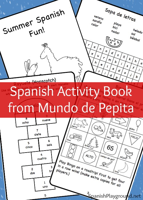This Spanish activity book from Mundo de Pepita has games and crafts to engage children during the summer.