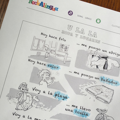Spanish Song Lyrics for Reading Activities - Spanish Playground