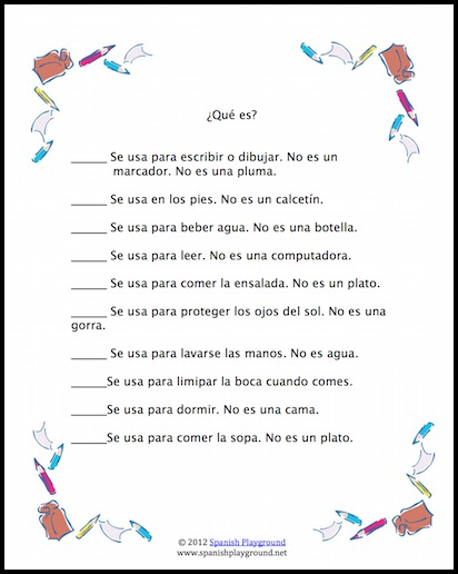 A treasure hunt makes Spanish reading practice fun for kids.