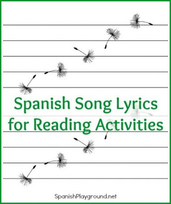 A variety of ways that kids can learn language with Spanish song lyrics.