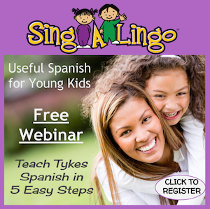 Teach tykes Spanish in 5 easy steps.
