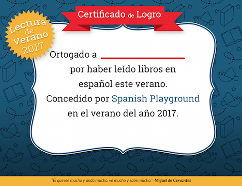 Use the certificate to recognize Spanish reading.
