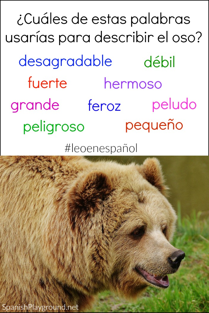 You can use photos for Spanish class in pre-reading activities.