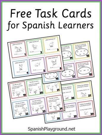 Use these Spanish task cards to reinforce and practice animal vocabulary.