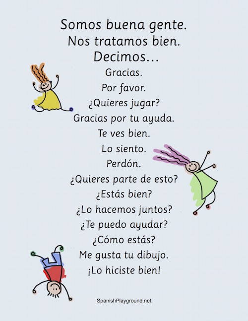 Teaching children kind words in Spanish is an important part of language and personal development.