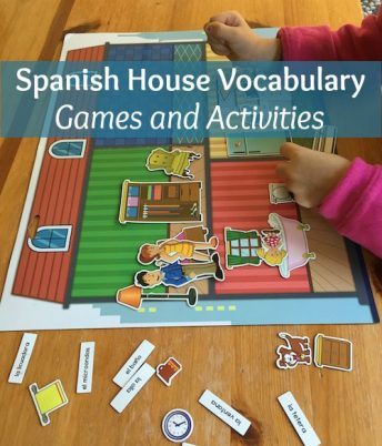 A magnetic board engages children with Spanish house vocabulary in many hands-on activities.