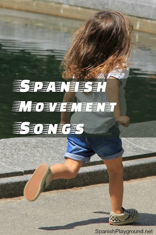 Spanish movement songs for teaching children first verbs in a fun, effective way.