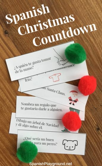 Use this Spanish Christmas countdown as a fun language activity in December.