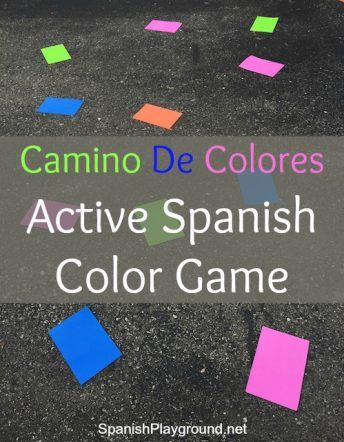 With this active Spanish color game, kids pratice listening and speaking with basic vocabulary.