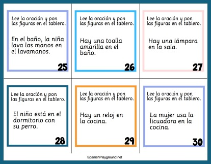 Children learn house vocabulary in Spanish with this engaging toy and task cards.