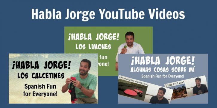 A series of videos called Kids Learn Spanish to teachs vocabulary and culture.