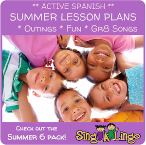 This program teachers Spanish for preschoolers through song and play.