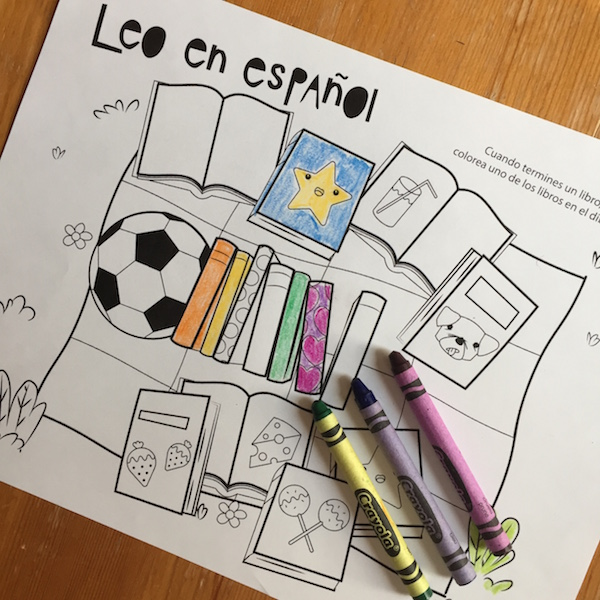 Spanish reading logs are a fun way for children to record books they read over the summer.