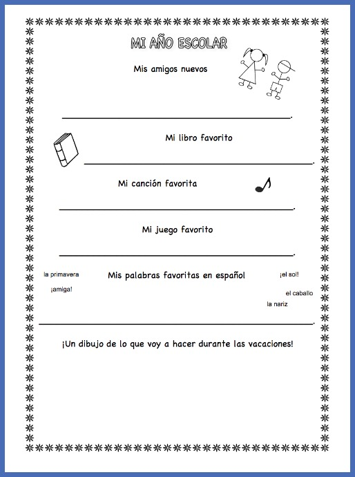 Kids record favorite songs and stories with this end of the year Spanish activity.