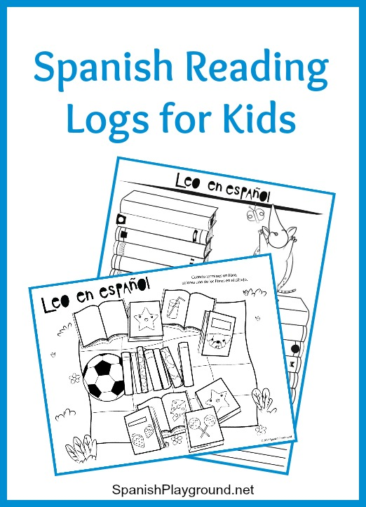 Spanish reading logs motivate children learning Spanish to keep up reading skills during the summer.