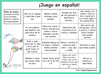 These easy Spanish speaking activities require no special materials.