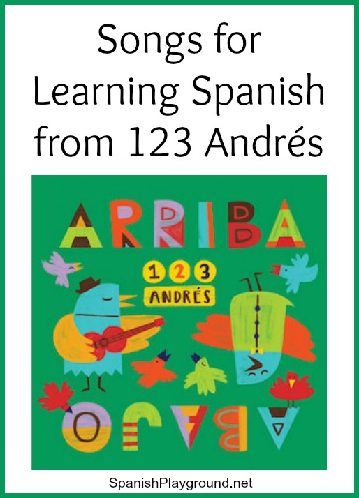 123 Andrés records songs for learning Spanish and basic concepts.