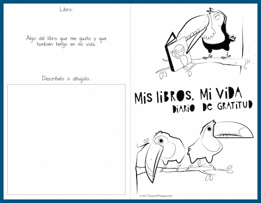 A Spanish gratitude journal to help children recognize things they appreciate in their lives.