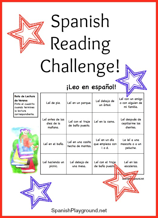 Children practice langauge skills as they do this Spanish reading challenge.