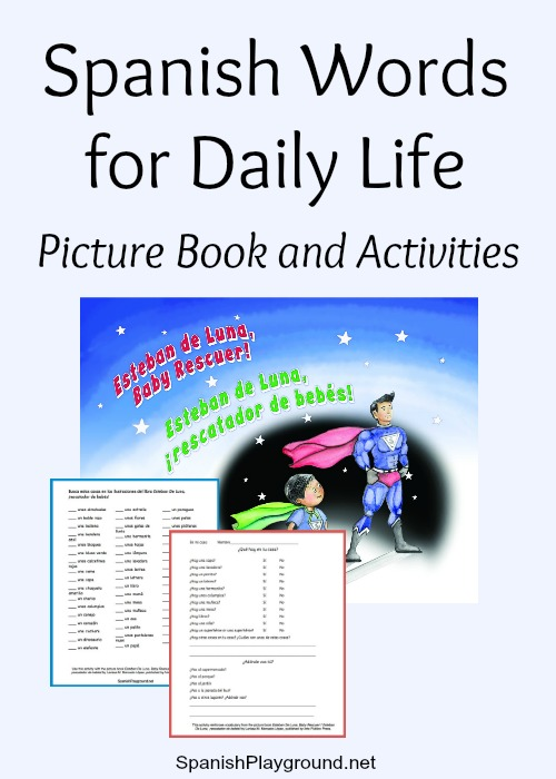 Spanish words for daily life with printable activities