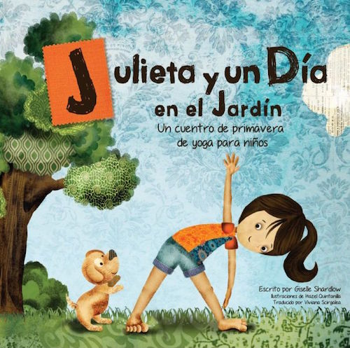 This Spanish yoga book teaches spring words and colors through movement and story.