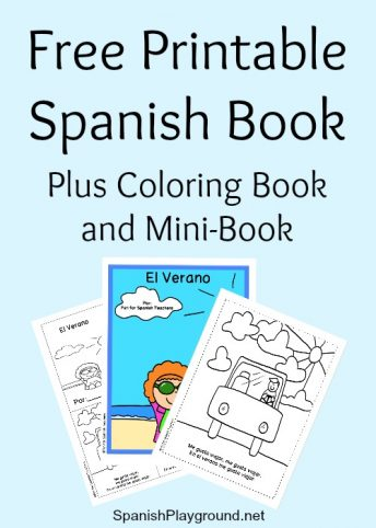 This printable Spanish book about summer has short senteces and common verbs.