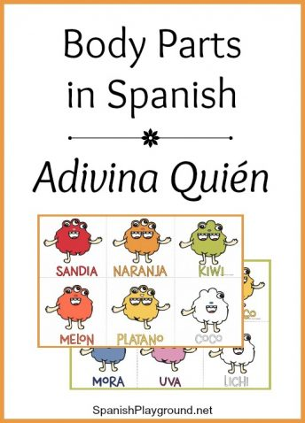 This printable Spanish body parts game uses monsters to teach key vocabulary.