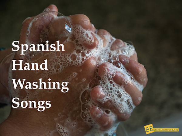 Spanish hand washing songs teach children vocabulary associated with the routine and also ensure clean hands.