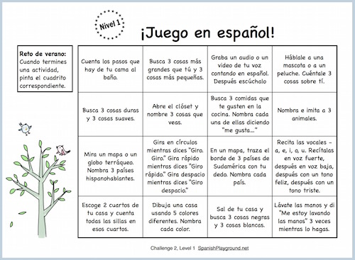 Spanish speaking practice in a series of short, fun activities for kids..