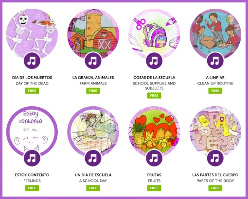 Songs are an important element of elementary Spanish lessons.