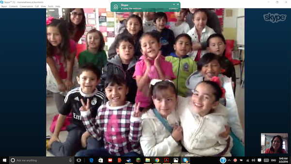 A Skype guest speaker for Spanish class lets students engage in authentic communication.
