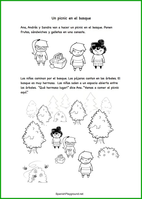 Read and play with this Spanish story with cutouts.