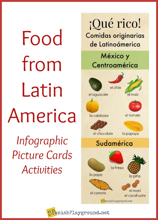Use this infographic of food from Latin America to practice vocabualry and learn about culture.