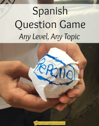 This Spanish question game can be adapted for all levels and topics.