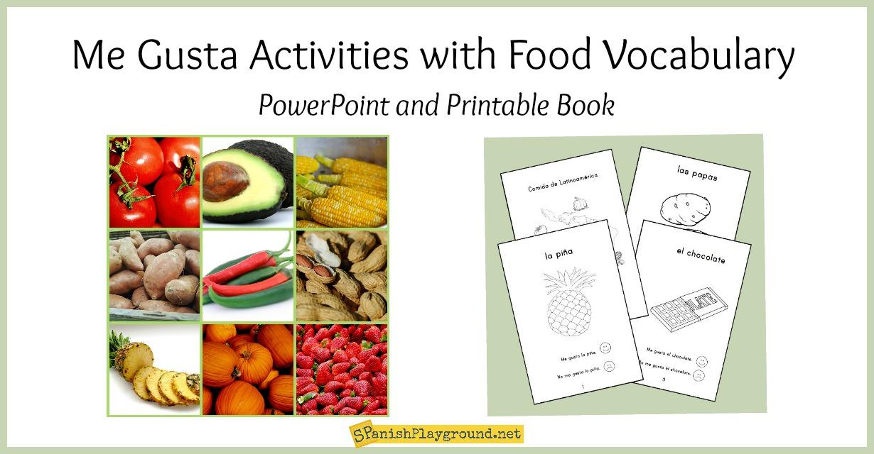 Me Gusta Activities with Spanish Food Vocabulary - Spanish